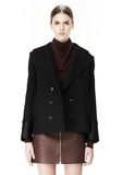ALEXANDER WANG DOUBLE BREASTED PEA COAT WITH HOOD JACKETS AND OUTERWEAR  Adult 8_n_d