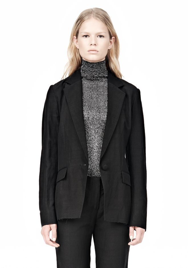 ALEXANDER WANG VACUUM PRESSED BLAZER WITH IRREGULAR PLEATS JACKETS AND OUTERWEAR  Adult 12_n_e