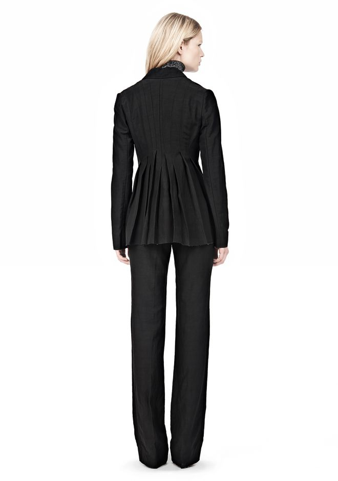 ALEXANDER WANG VACUUM PRESSED BLAZER WITH IRREGULAR PLEATS JACKETS AND OUTERWEAR  Adult 12_n_r