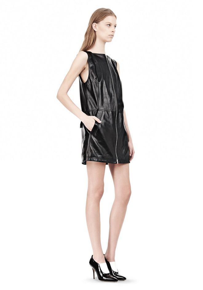 T by ALEXANDER WANG SQUARE NECK SHIFT DRESS Short Dress Adult 12_n_e