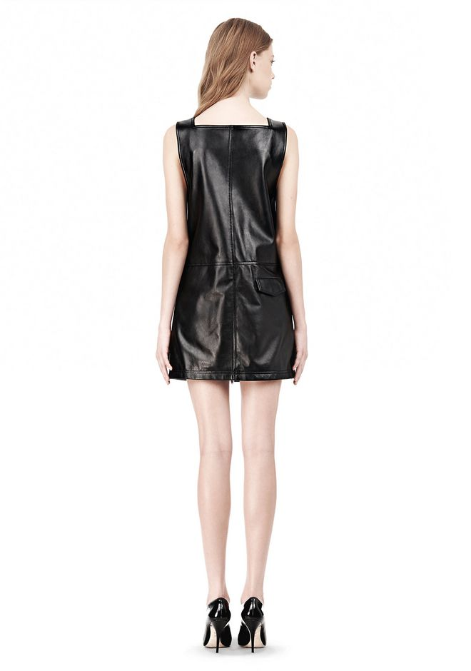 T by ALEXANDER WANG SQUARE NECK SHIFT DRESS Short Dress Adult 12_n_r