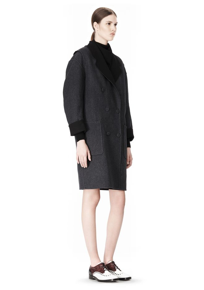 ALEXANDER WANG 2-IN-1 REVERSIBLE DOUBLE BREASTED COCOON COAT JACKETS AND OUTERWEAR  Adult 12_n_e