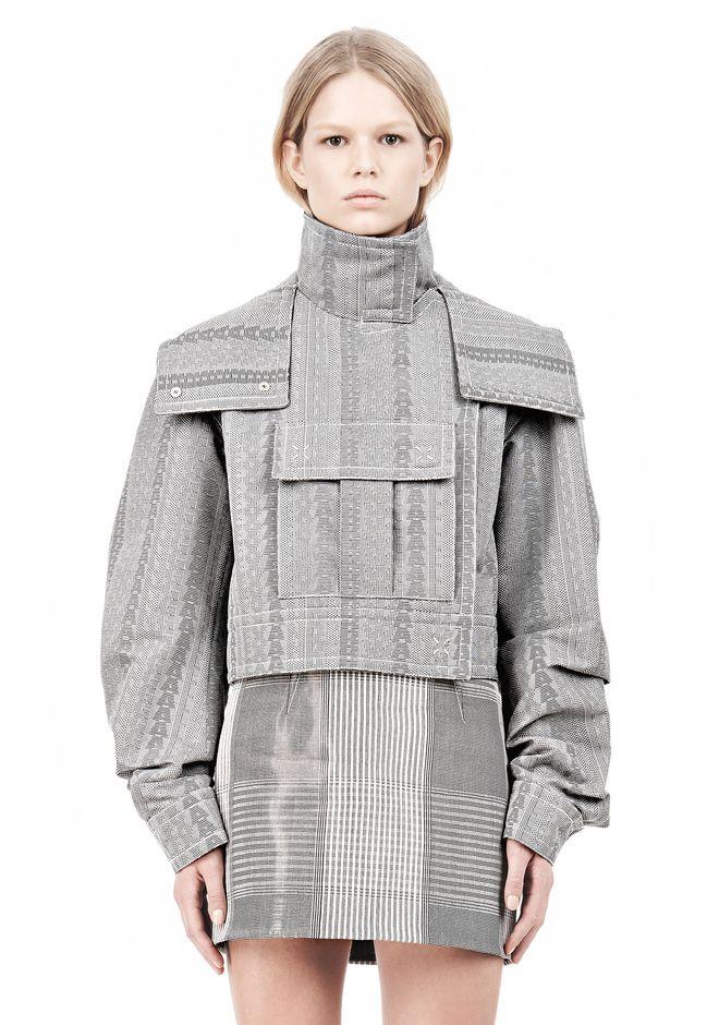 ALEXANDER WANG ASYMMETRIC FRONT PARKA Jacket Adult 12_n_a