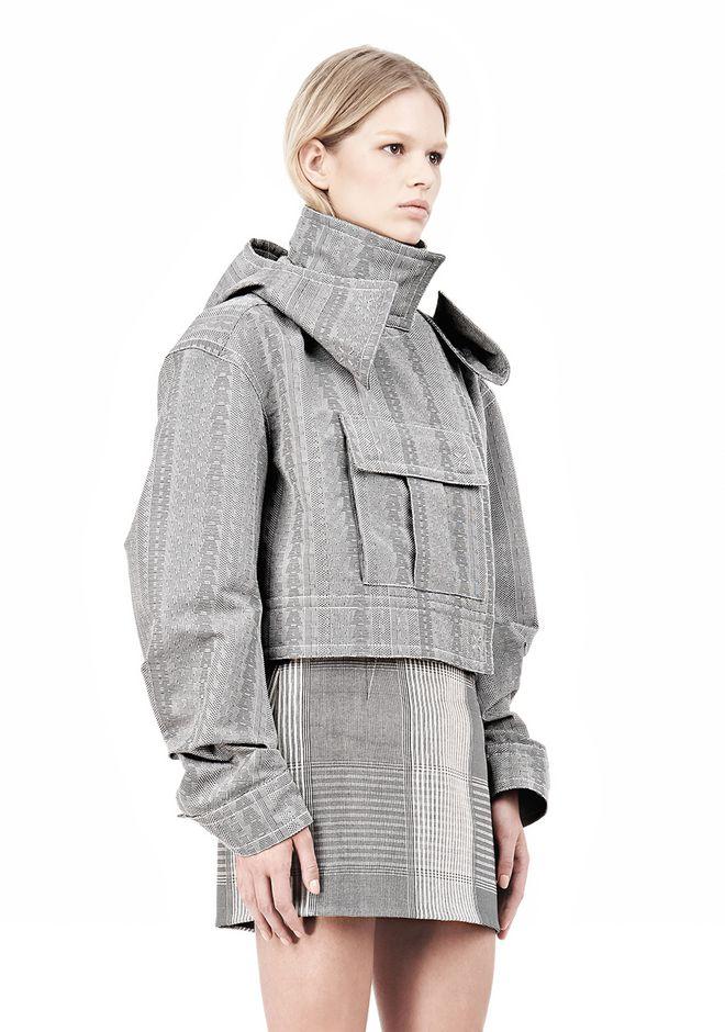 ALEXANDER WANG ASYMMETRIC FRONT PARKA Jacket Adult 12_n_d