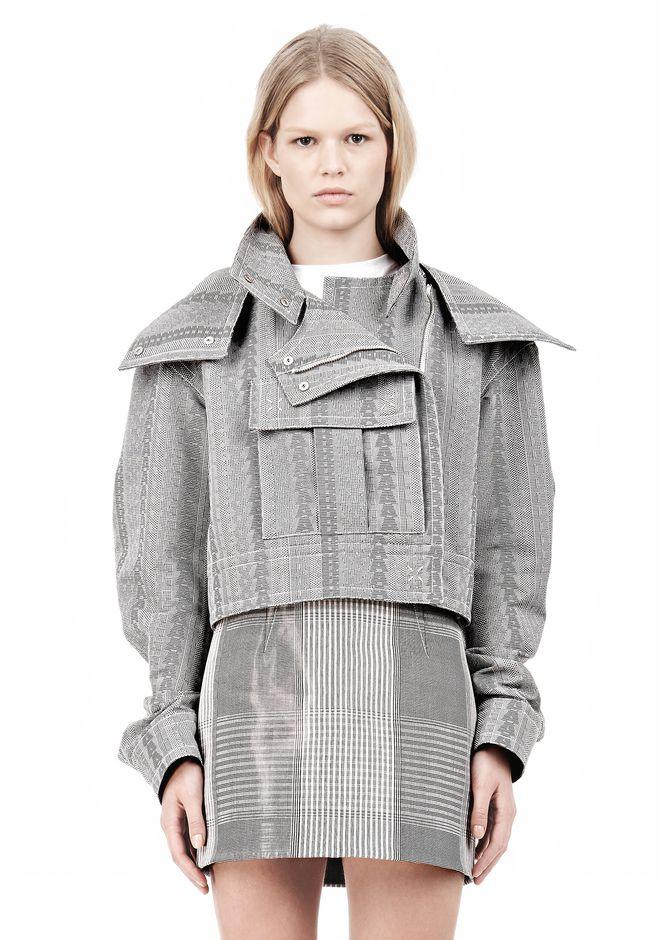ALEXANDER WANG ASYMMETRIC FRONT PARKA Jacket Adult 12_n_e