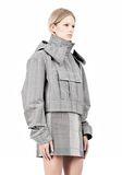 ALEXANDER WANG ASYMMETRIC FRONT PARKA Jacket Adult 8_n_d