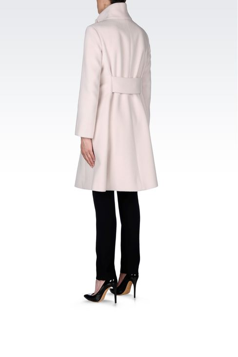 SINGLE-BREASTED COAT IN WOOL AND CASHMERE: Single-breasted coats Women by Armani - 4