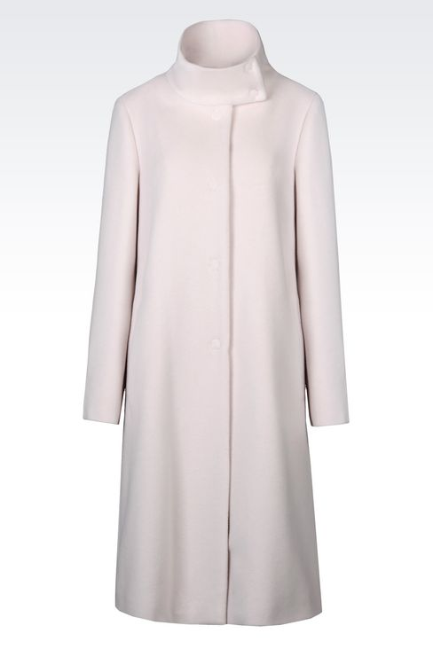 SINGLE-BREASTED COAT IN WOOL AND CASHMERE: Single-breasted coats Women by Armani - 1