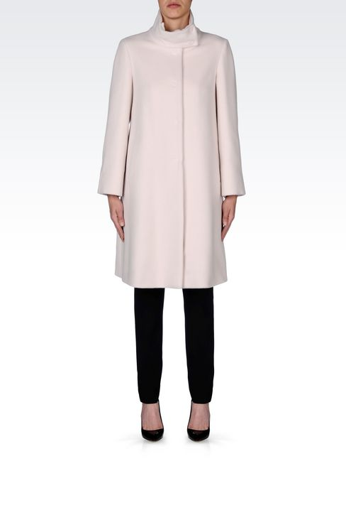 SINGLE-BREASTED COAT IN WOOL AND CASHMERE: Single-breasted coats Women by Armani - 2