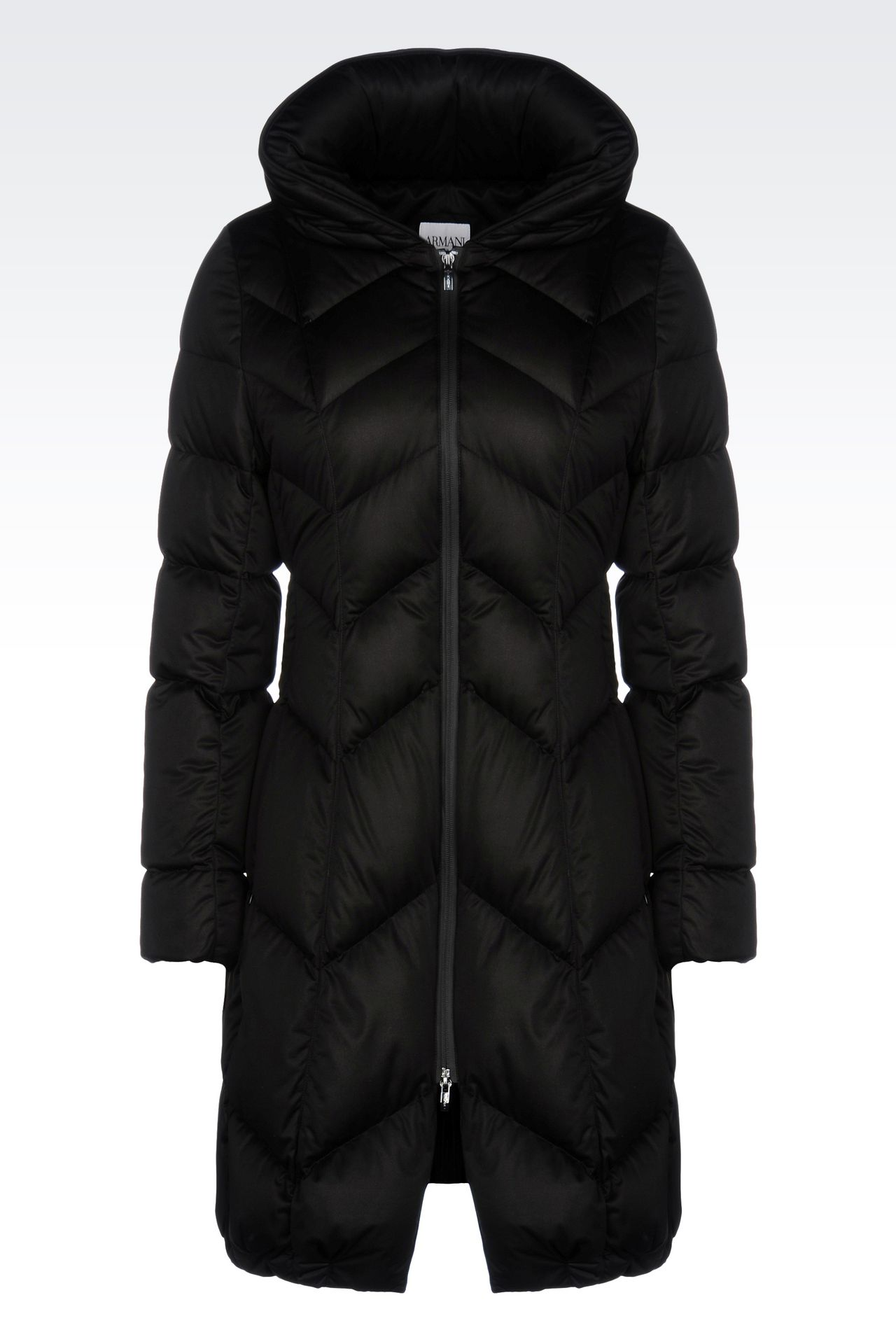CLASSIC DOWN JACKET IN TECHNICAL FABRIC: Mid-length jackets Women by Armani - 0