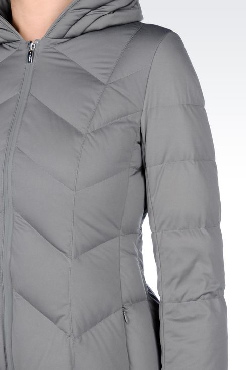 CLASSIC DOWN JACKET IN TECHNICAL FABRIC: Mid-length jackets Women by Armani - 5