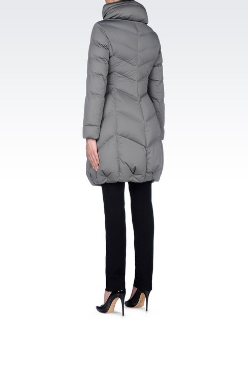 CLASSIC DOWN JACKET IN TECHNICAL FABRIC: Mid-length jackets Women by Armani - 4