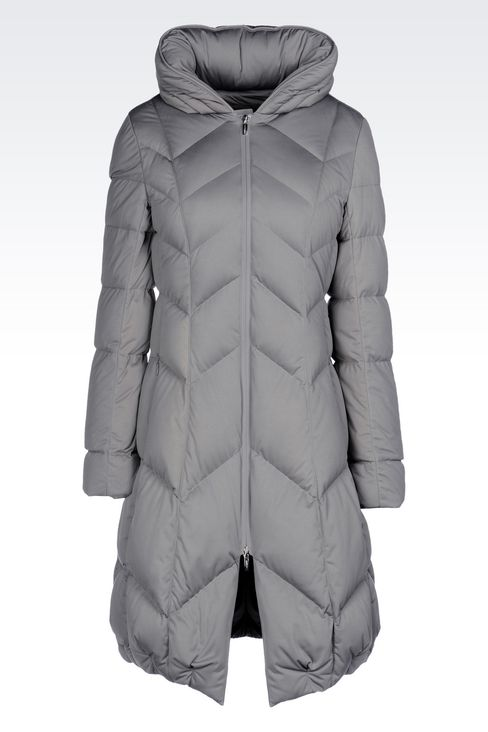 CLASSIC DOWN JACKET IN TECHNICAL FABRIC: Mid-length jackets Women by Armani - 1