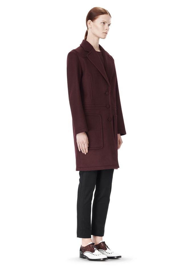 ALEXANDER WANG LOW WAISTED BONDED COAT  JACKETS AND OUTERWEAR  Adult 12_n_e