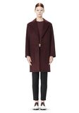 ALEXANDER WANG LOW WAISTED BONDED COAT  JACKETS AND OUTERWEAR  Adult 8_n_d
