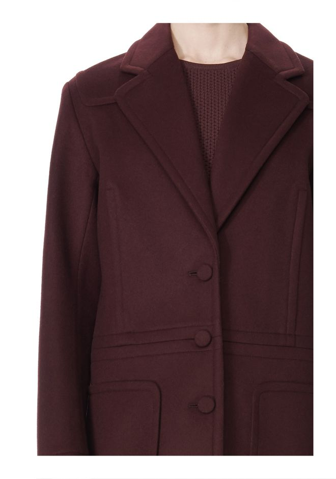 ALEXANDER WANG LOW WAISTED BONDED COAT  JACKETS AND OUTERWEAR  Adult 12_n_a