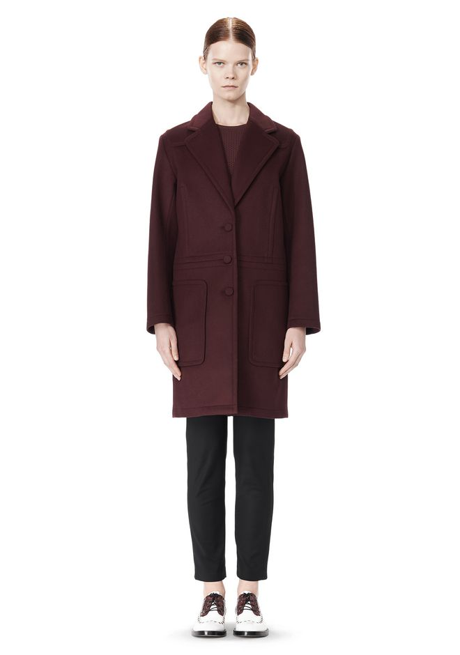 ALEXANDER WANG LOW WAISTED BONDED COAT  JACKETS AND OUTERWEAR  Adult 12_n_f