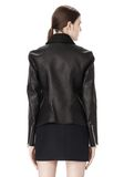 ALEXANDER WANG EXCLUSIVE LEATHER BIKER JACKET WITH RAW EDGE FINISH Jacket Adult 8_n_a