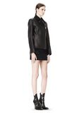 ALEXANDER WANG EXCLUSIVE LEATHER BIKER JACKET WITH RAW EDGE FINISH Jacket Adult 8_n_e