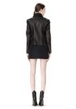 ALEXANDER WANG EXCLUSIVE LEATHER BIKER JACKET WITH RAW EDGE FINISH Jacket Adult 8_n_r