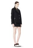 ALEXANDER WANG PEACOAT WITH DISTRESSED DETAIL JACKETS AND OUTERWEAR  Adult 8_n_e