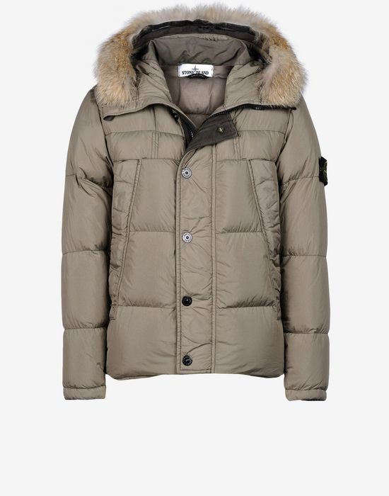9a6d325f3b 40723 GARMENT DYED CRINKLE REP NY Manteau Court Stone Island Homme Boutique  Officielle