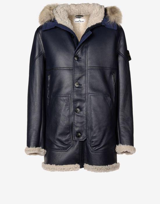 00479 Hand Painted Sheepskin Leather Jacket Stone