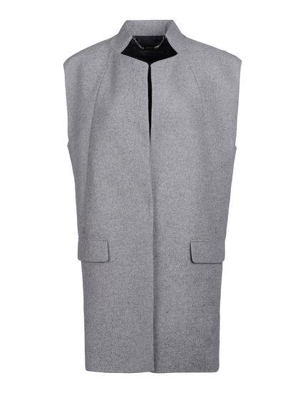 Sleeveless overcoat