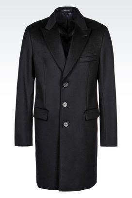 Armani Manteaux à un bouton Homme manteau classique en drap de laine
