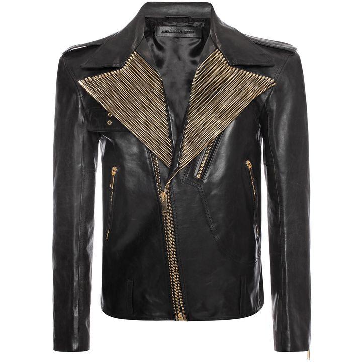 Alexander McQueen, Zip Collar Leather Jacket