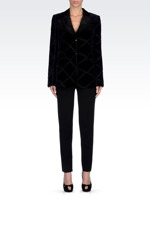 RUNWAY JACKET IN VELVET: Two buttons jackets Women by Armani - 2