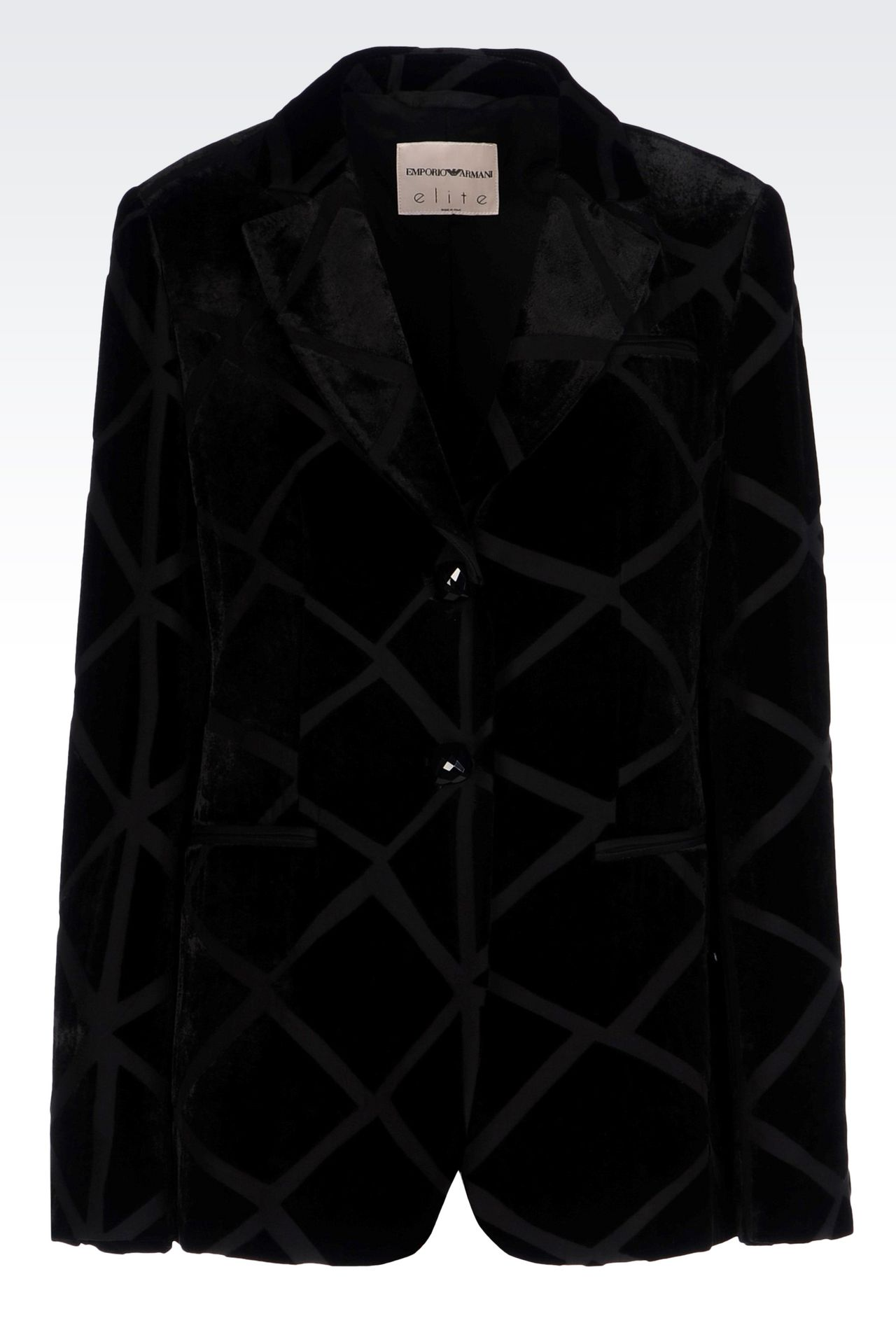 RUNWAY JACKET IN VELVET: Two buttons jackets Women by Armani - 0