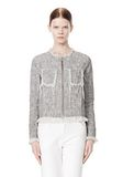 T by ALEXANDER WANG COTTON BURLAP ZIP UP JACKET  JACKETS AND OUTERWEAR  Adult 8_n_d