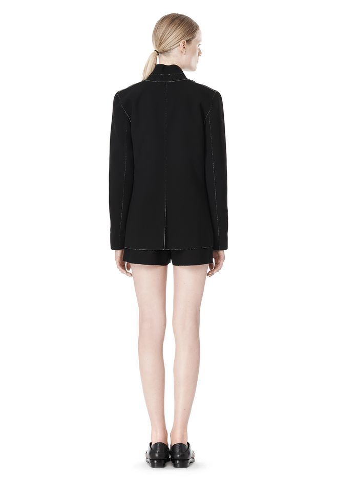 T by ALEXANDER WANG DOUBLE FACE BONDED COLLAR BLAZER JACKETS AND OUTERWEAR  Adult 12_n_r