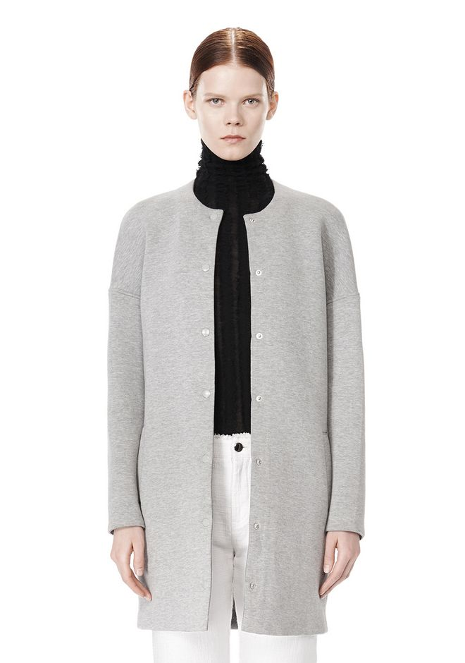 T by ALEXANDER WANG COTTON NEOPRENE OVERSIZED COAT JACKETS AND OUTERWEAR  Adult 12_n_d