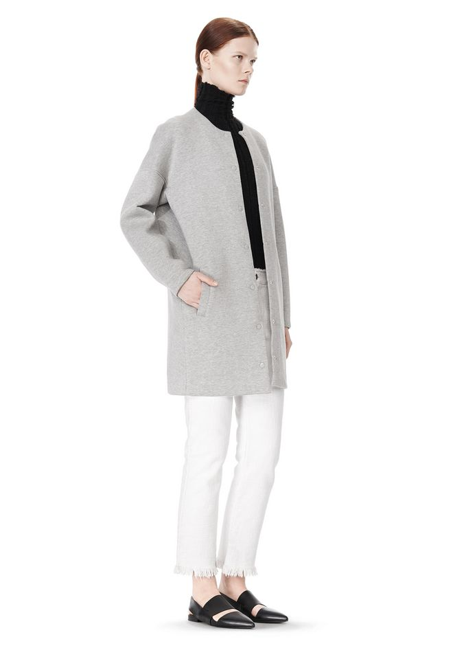 T by ALEXANDER WANG COTTON NEOPRENE OVERSIZED COAT JACKETS AND OUTERWEAR  Adult 12_n_e