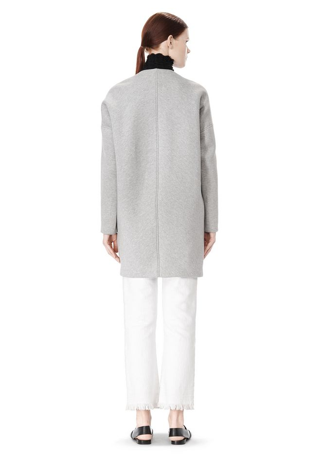 T by ALEXANDER WANG COTTON NEOPRENE OVERSIZED COAT JACKETS AND OUTERWEAR  Adult 12_n_r