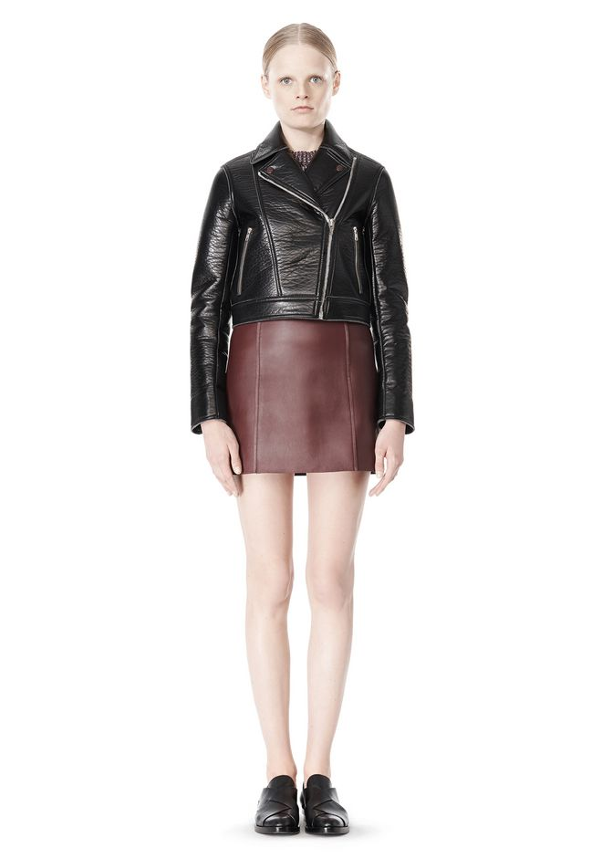 T by ALEXANDER WANG BONDED LEATHER MOTORCYCLE JACKET Jacket Adult 12_n_f