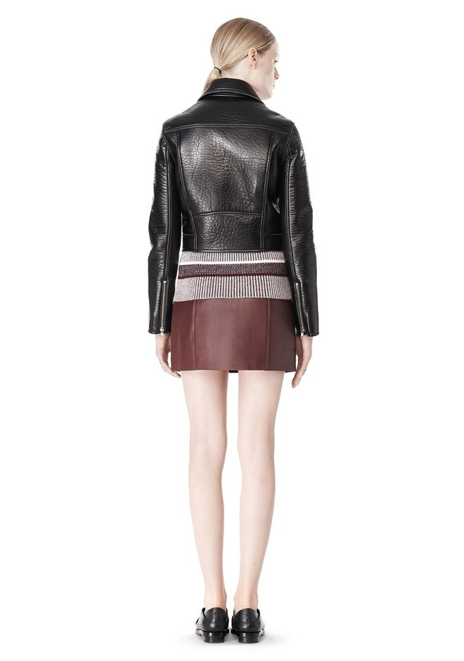 T by ALEXANDER WANG BONDED LEATHER MOTORCYCLE JACKET Jacket Adult 12_n_r