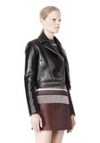 T by ALEXANDER WANG BONDED LEATHER MOTORCYCLE JACKET Jacket Adult 8_n_a
