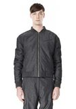 T by ALEXANDER WANG MELANGE DOBBY NYLON BOMBER JACKET JACKETS AND OUTERWEAR  Adult 8_n_e