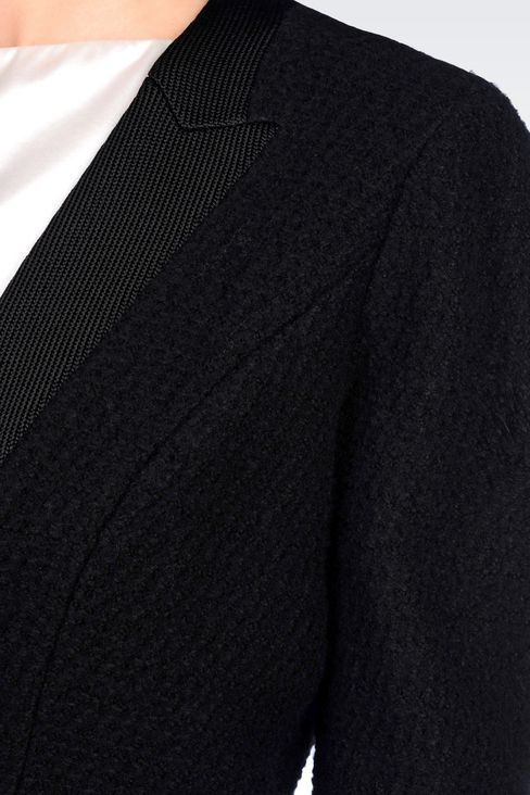 JACKET IN BOILED WOOL: One button jackets Women by Armani - 5