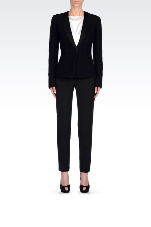 JACKET IN BOILED WOOL: One button jackets Women by Armani - 2