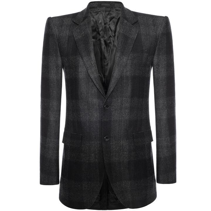 Alexander McQueen, Wool Check 2-Button Jacket
