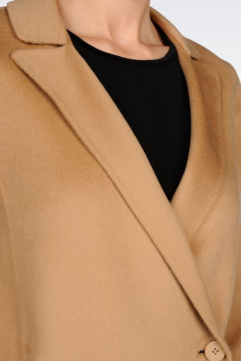 CASHMERE COAT: Single-breasted coats Women by Armani - 5
