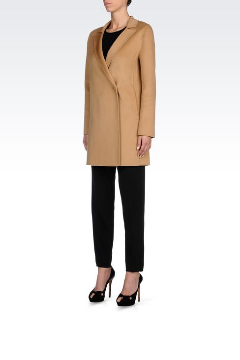 CASHMERE COAT: Single-breasted coats Women by Armani - 3