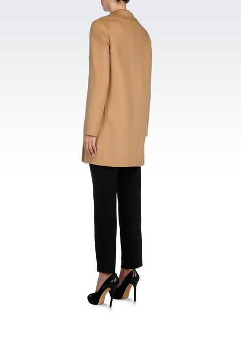 CASHMERE COAT: Single-breasted coats Women by Armani - 4