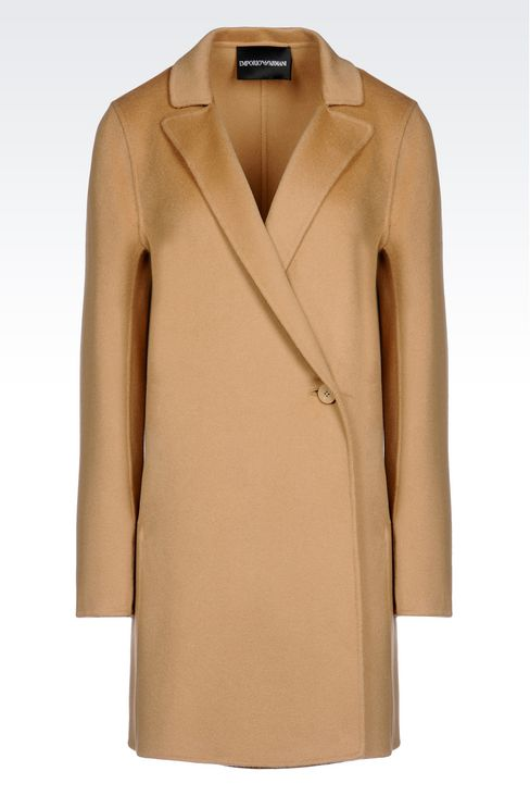 CASHMERE COAT: Single-breasted coats Women by Armani - 1