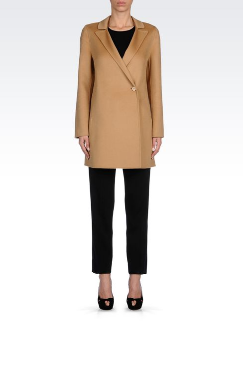 CASHMERE COAT: Single-breasted coats Women by Armani - 2