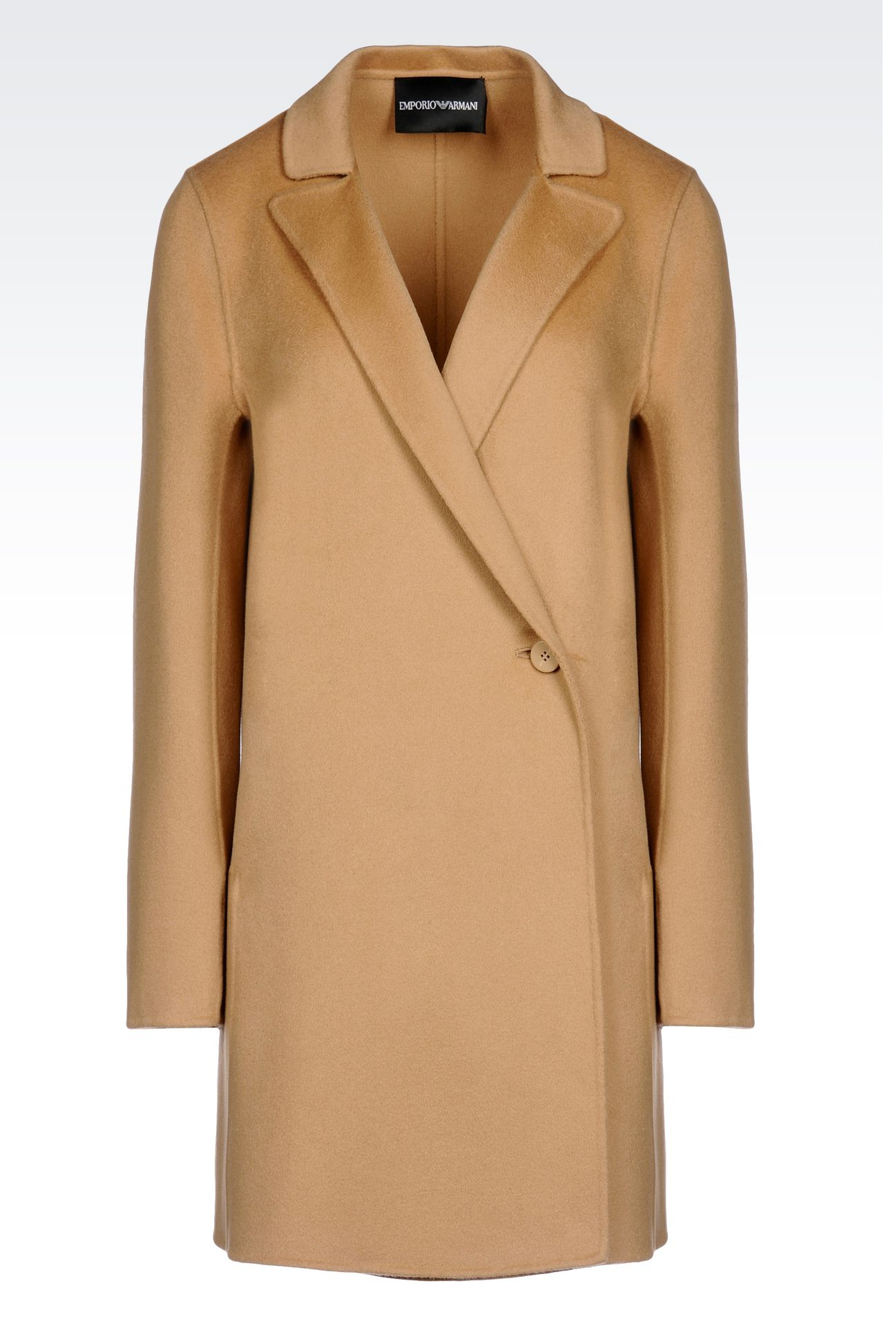 CASHMERE COAT: Single-breasted coats Women by Armani - 0